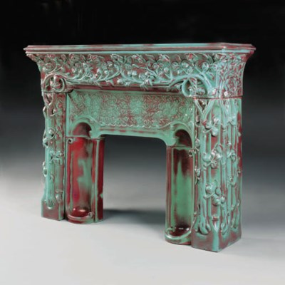 A ceramic fireplace