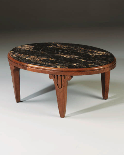A Carved Walnut Table