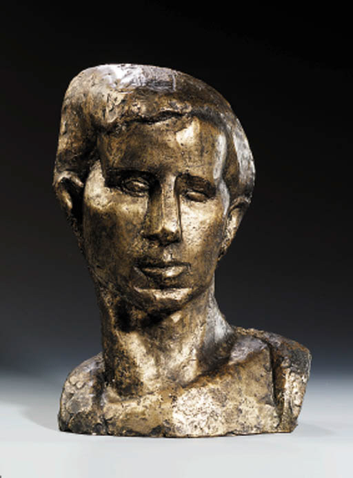 A Gilded Plaster Bust