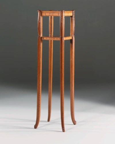 A Carved and Stained Etagere