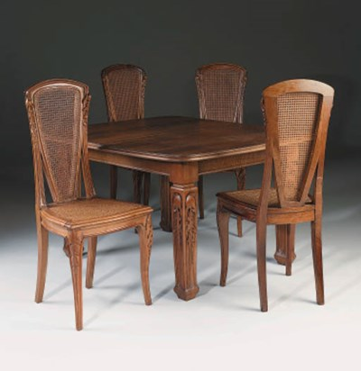 A Dining Table and eight chair