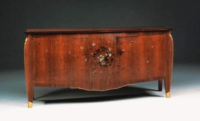 An Inlaid Rosewood Sideboard