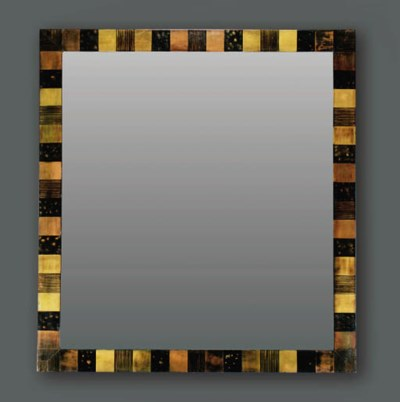 A Gilded and Laquered Mirror F