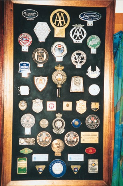A display mounted collection o