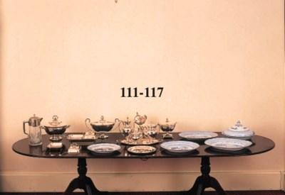 A fine set of twelve silver di