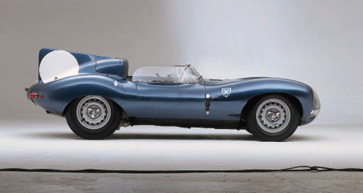 Jaguar D-Type - 4 Dunlop alloy peg-drive knock-off wheels, fitted with Dunlop 'Roadspeed' tyres; all in good clean condition - formerly spares for MWS 301. (4) (4)