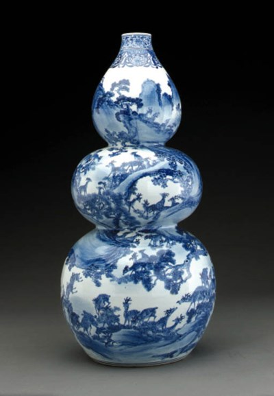 A Chinese stone model of a sea