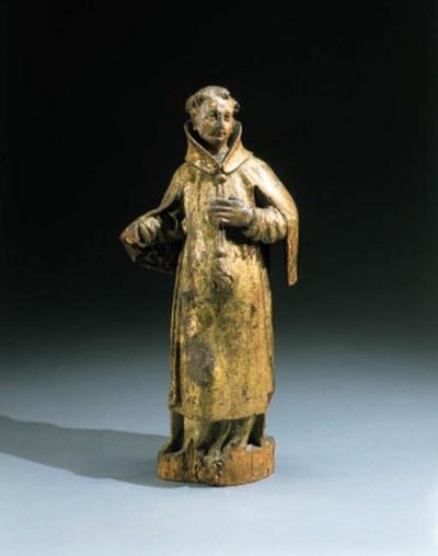 A Ming ochre glazed pottery mo