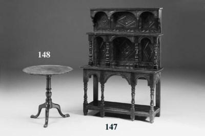 A small oak dresser, 19th cent