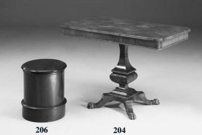A Victorian walnut cylinder co
