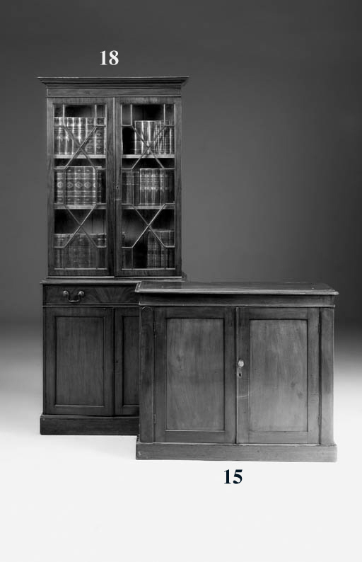 A mahogany side cabinet, 19th