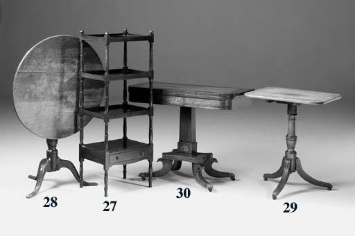 A mahogany whatnot, early 19th