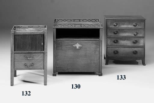 A George III mahogany bedside