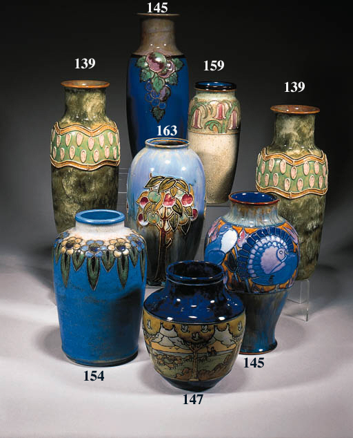 A pair of shouldered vases