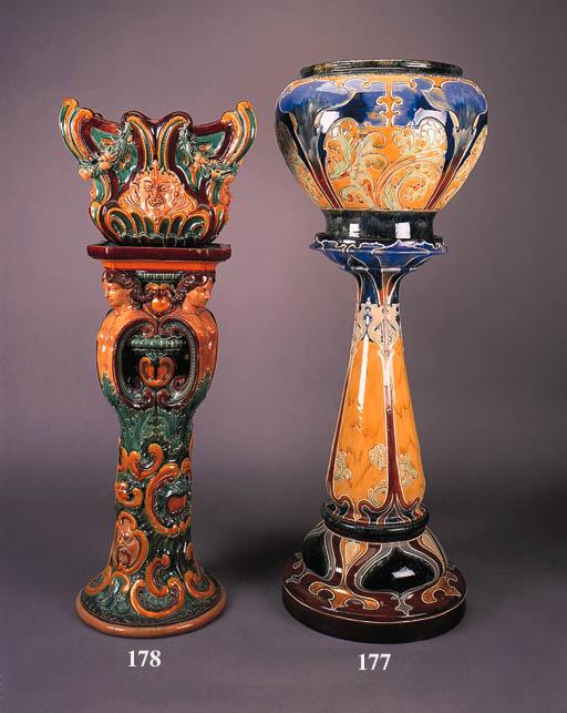 An Art Nouveau stoneware jardi