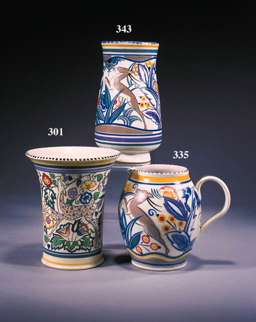 A tapering cylindrical vase