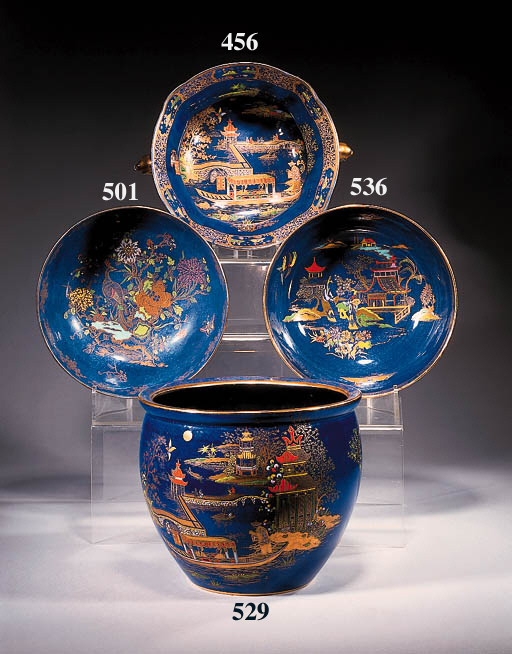 A twin-handled footed bowl