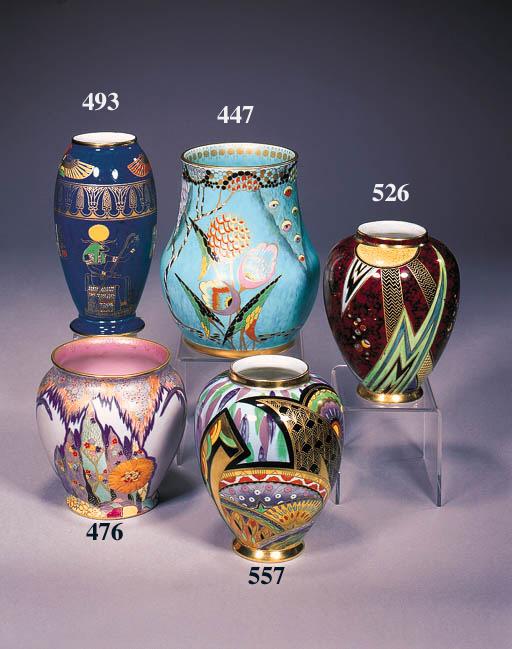 A small ovoid vase