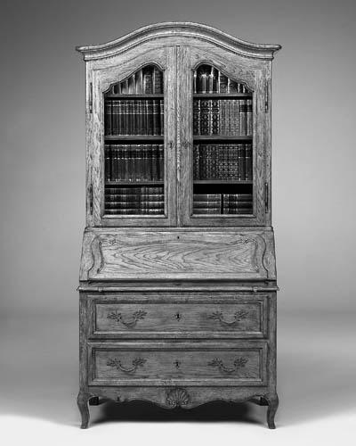 An Italian oak bureau bookcase