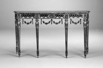 A giltwood breakfront console