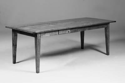 A cherrywood farmhouse table