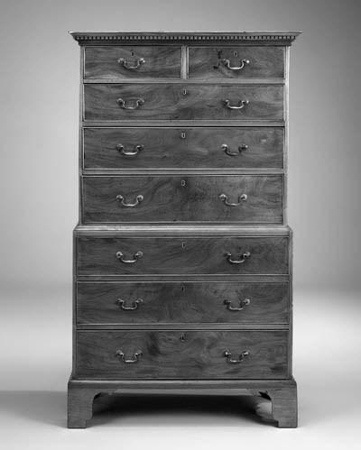 A mahogany tallboy, 19th centu