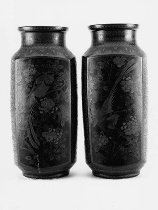 A pair of Japanese cloisonne o