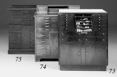 A mahogany dentists cabinet, 2