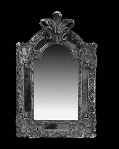 A Louis XIV giltwood mirror