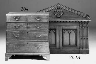 A Victorian oak sideboard