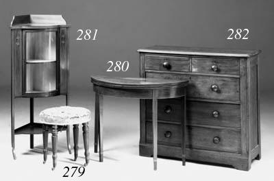 A mahogany stool, early 19th c