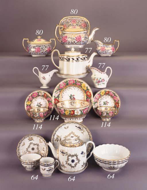 A English porcelain London sha