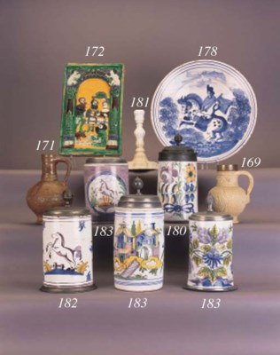 A Low Countries faience blue a