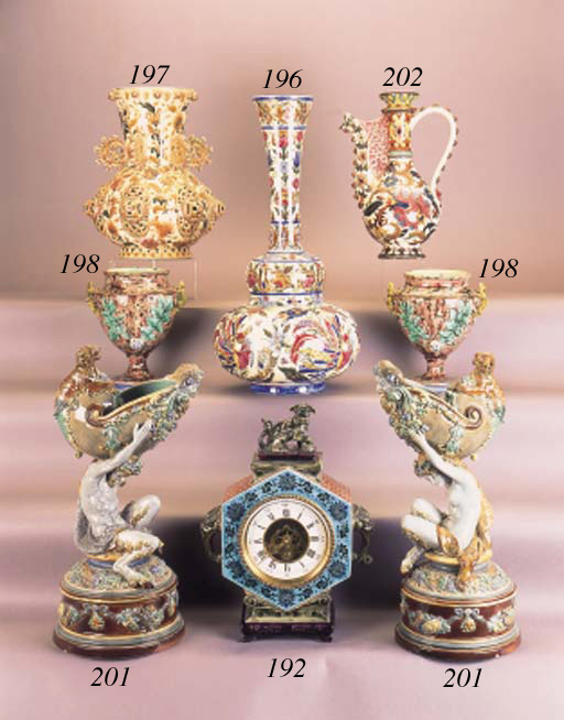 A French majolica chinoiserie