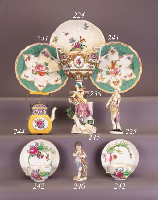 A Meissen (Marcolini) two-hand