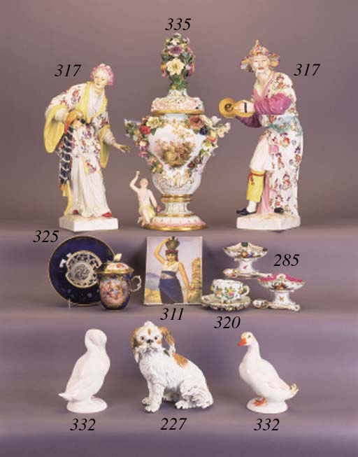 A Meissen lobed cup and saucer