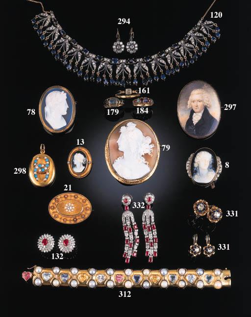 A 19th Century gold and gem ov