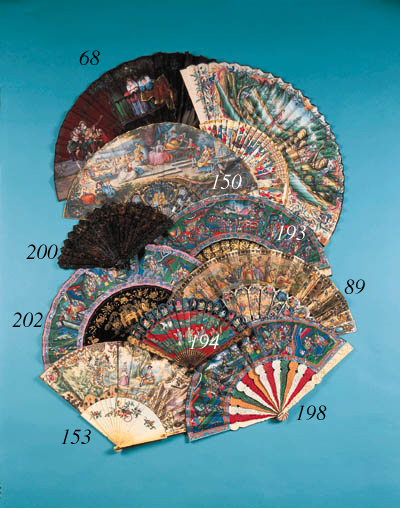 A lithographic fan, the leaf a