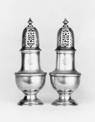 A pair of George III vase shap