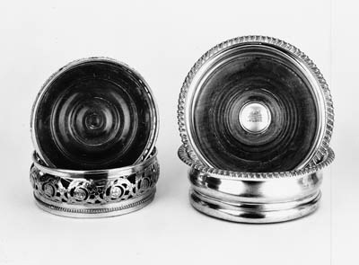 A pair of electroplated Victor