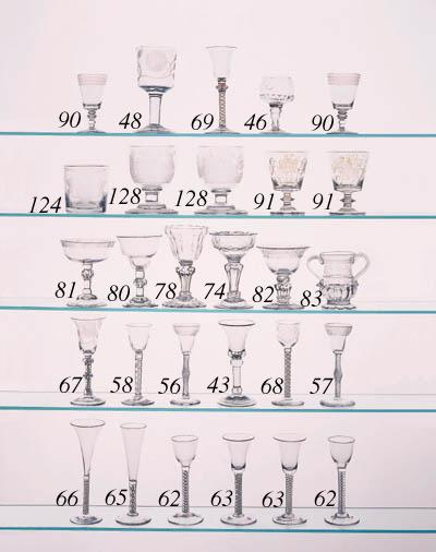 A plain-stemmed wine glass of