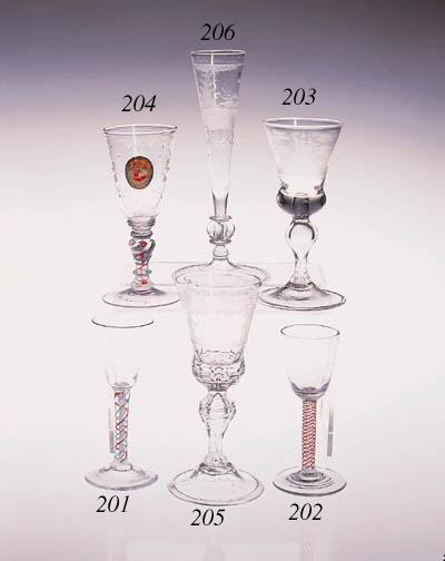 A Bohemian colour-twist goblet