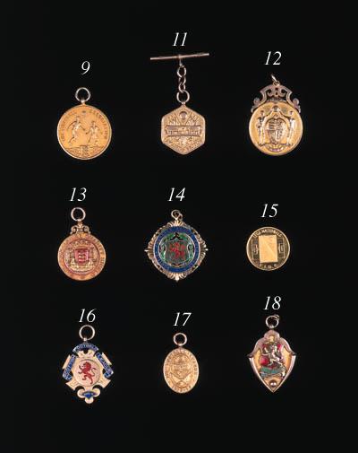 A Continental gold medallion,
