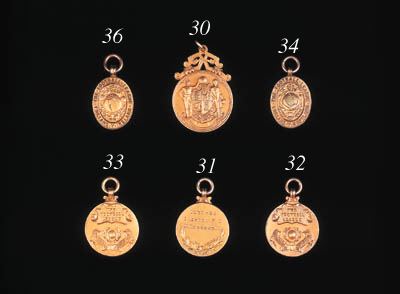 A 9ct gold medal, the obverse