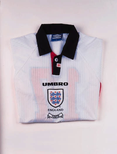 A white short-sleeved England