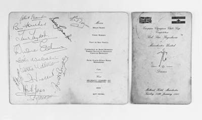 Two menu cards from the Manche