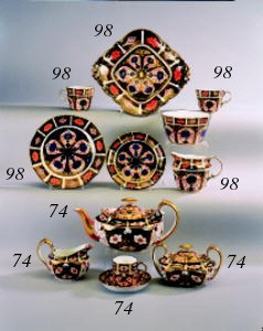 A Royal Crown Derby part tea s
