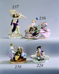 A Meissen group of 'The Rape o