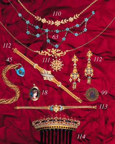 A Victorian gold half-pearl an