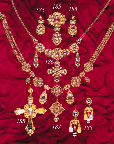 A 19th Century gold and hardst